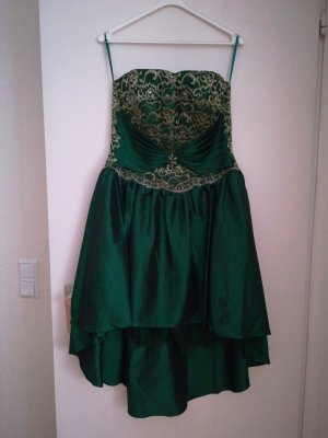 High Low Dress forest green
