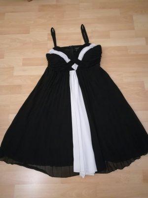 Apart Vestido línea A blanco-negro