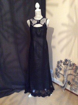 Vestido de encaje negro Seda