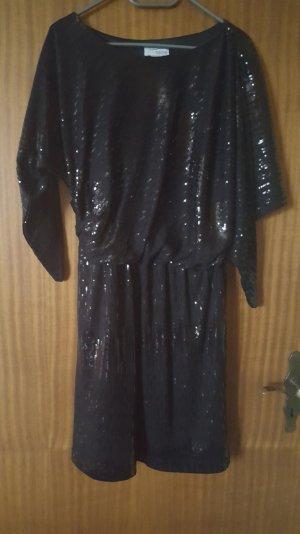 Abendkleid von Heine mit Pailletten schwarz