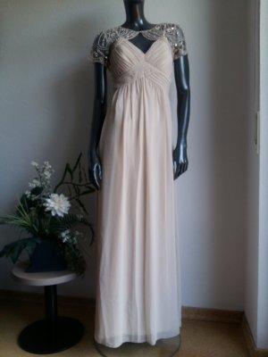 Abendkleid von Little Mistress Gr. 34 hellbeige