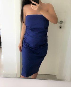 Vera Mont Vestido bandeau azul