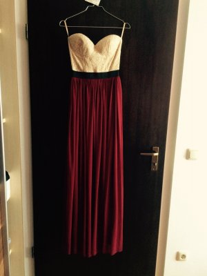 Abendkleid Weinrot 34