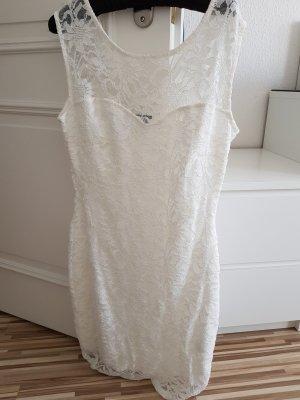 Abendkleid weiß mit Pailletten Gr. 40/42