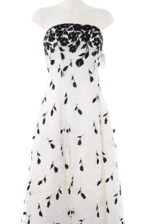 Abendkleid weiß-schwarz extravaganter Stil