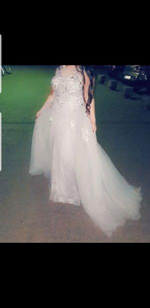 100 Evening Dress silver-colored-light grey