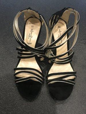 1.2.3 Paris Strapped High-Heeled Sandals black-sand brown