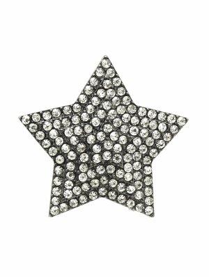 Abendschmuck Ball ABI Schmuck Ring Elastik Stretch Stern Kristall Klar Transparent