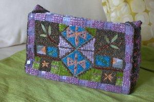 Sac de soirée lilas-violet soie