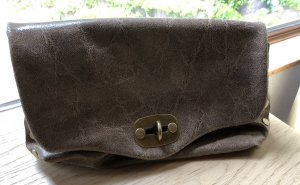 Genuine Leather Pochette marron clair