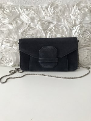 Arma Collection Clutch donkerblauw-wolwit Suede