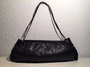 Abendtasche Emporio Armani schwarzes Leder