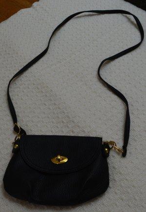 Abendtasche Kleine Tasche schwarz-gold