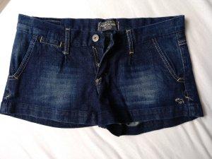 Abercrombie & Fitch Pantaloncino di jeans blu Cotone
