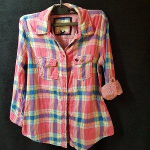 Abercrombie & Fitch Camicia blusa multicolore Cotone