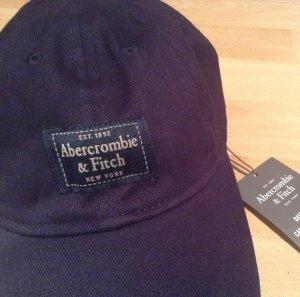 Abercrombie & Fitch Gorra de béisbol azul oscuro Algodón