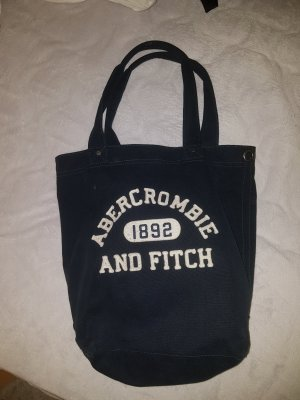 Abercrombie & Fitch Canvas Bag white-blue