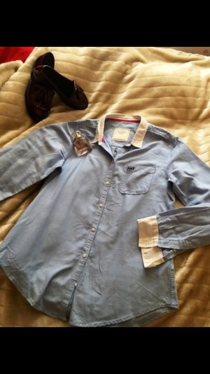 Abercrombie &a Fitch Bluse hellblau in size L