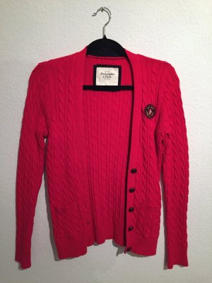 Abercrombie and Fitch Cardigan rot Strick weich