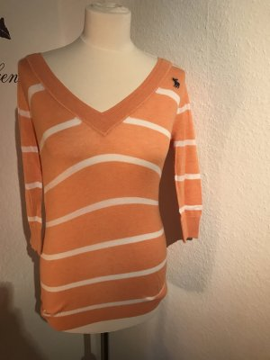Abercrombie and fitch hollister orange streifen Pullover Shirt