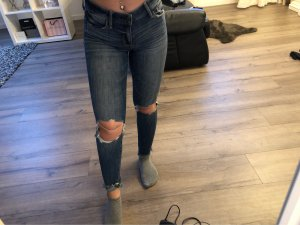 Abercrombie & Fitch Jeans a sigaretta blu