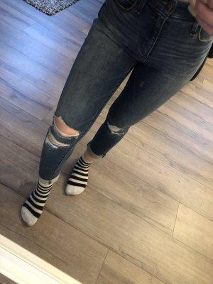 Abercrombie & Fitch Jeans a vita alta blu