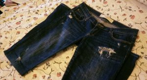 Abercrombie and Fitch Jeans used destroyed look