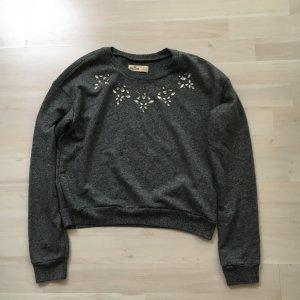 Abercrombie & Fitch Suéter gris oscuro-gris antracita