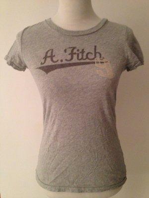 ABERCROMBIE AND FITCH Shirt, schlicht & grau