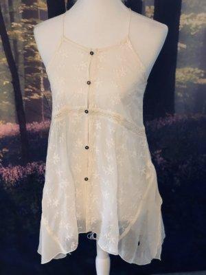 Abercrombie & Fitch Top long blanc cassé-blanc
