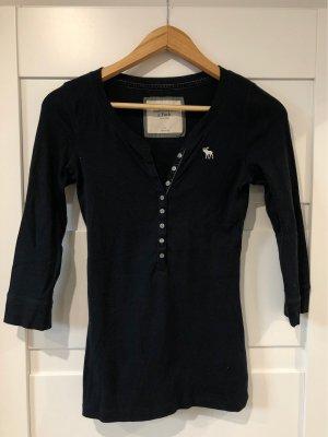 Abercrombie & Fitch T-shirt col en V bleu foncé
