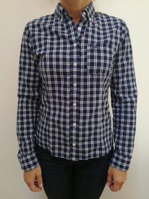 Abercrombie blau-weißes Damen/Kind Hemd XS