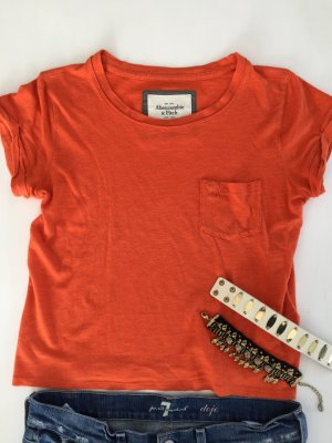 Abercrombie cropped tshirt Sommer Farbe Knall orange XS 34