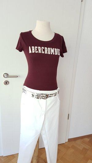 Abercrombie  Damen T-Shirt bordeaux Gr. M