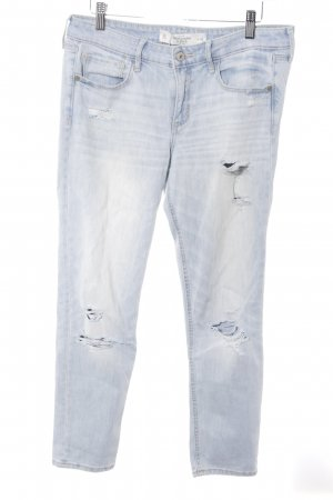 Abercrombie & Fitch 7/8-jeans azuur casual uitstraling