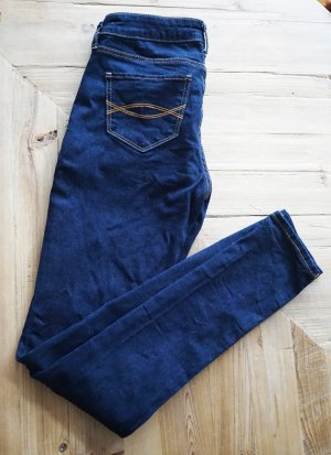 Abercrombie & Fitch A&F Skinny Jeans Rinse blau  sexy Hollister weich 0R W25 L31