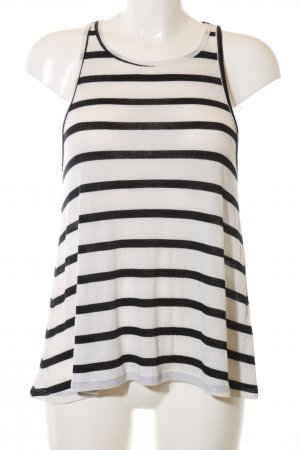 Abercrombie & Fitch A Line Top white-black striped pattern casual look