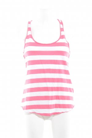 Abercrombie & Fitch Top línea A rosa-blanco estampado a rayas look Street-Style