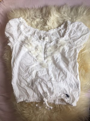 Abercrombie & Fitch Lace Blouse white-natural white