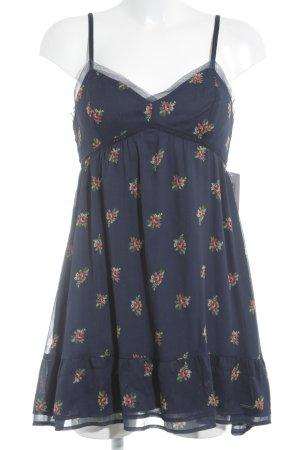 Abercrombie & Fitch Babydoll Dress dark blue flower pattern casual look