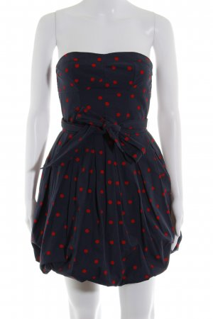 Abercrombie & Fitch Ballonkleid dunkelblau-rot Punktemuster 50ies-Stil