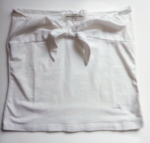 Abercrombie & Fitch Bandeau Top Weiß