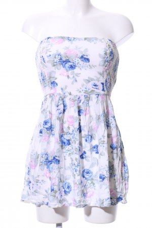 Abercrombie & Fitch Bandeau Dress white-blue allover print casual look