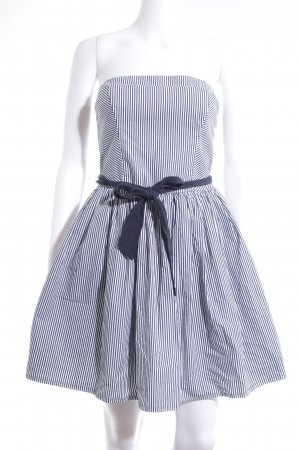 Abercrombie & Fitch Bandeau Dress dark blue-white striped pattern casual look