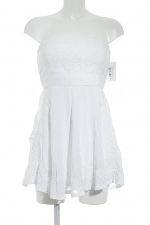 Abercrombie & Fitch Bandeau Dress white romantic style