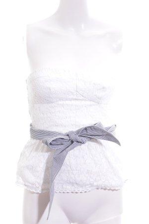 Abercrombie & Fitch Top a fascia bianco-blu stampa integrale stile casual