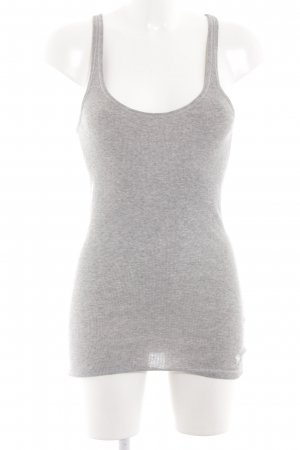 Abercrombie & Fitch Basic Top hellgrau meliert Casual-Look