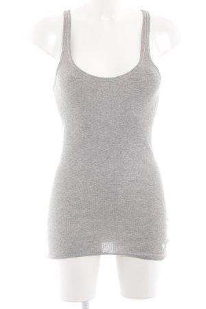 Abercrombie & Fitch Top básico gris claro moteado look casual