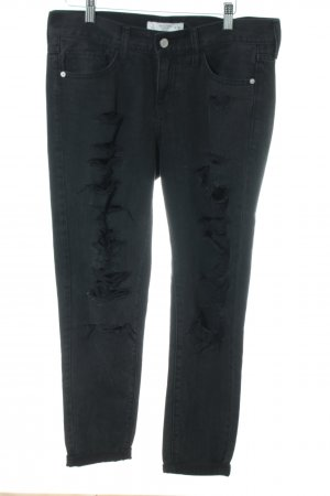Abercrombie & Fitch Biker jeans zwart straat-mode uitstraling