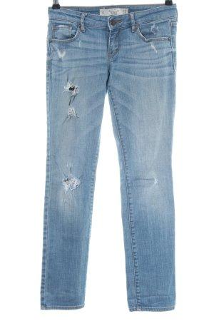 Abercrombie & Fitch Biker jeans blauw straat-mode uitstraling